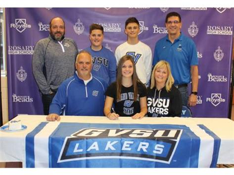Sammie Laurich Signing her NLI to Swim at Grand Valley State University!