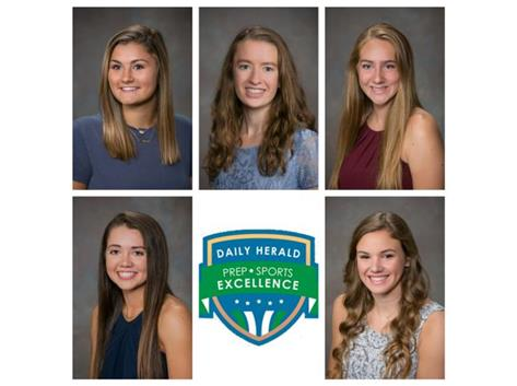 The following Rosary senior athletes were nominated in the 2018 Daily Herald Prep Sports Excellence Awards: AnnaLeah Esp, Claire Henesbaugh, Sophia Kramer, Riley McCue and Emily Ryan.