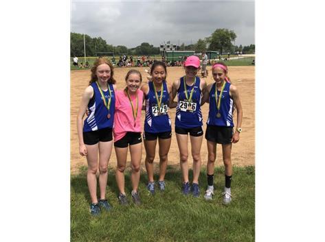Varsity Medalist @ Aurora City meet: Brooke O'Carroll (20th), Katie Lifka (24th), Maia Italia (19th), Ally Tippett (18th), Lianna Surtz (1st)