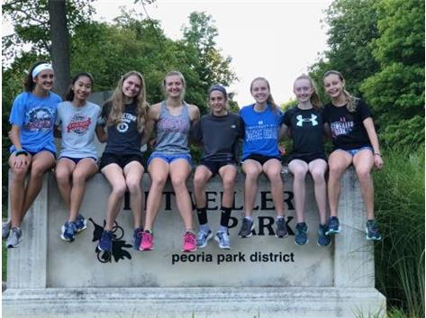 XC team at Detweiller Park in Peoria for the Richard Spring Invitational