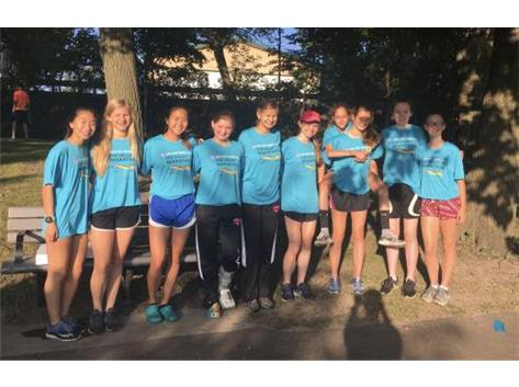 XC team volunteering at the Fox Valley Marathon