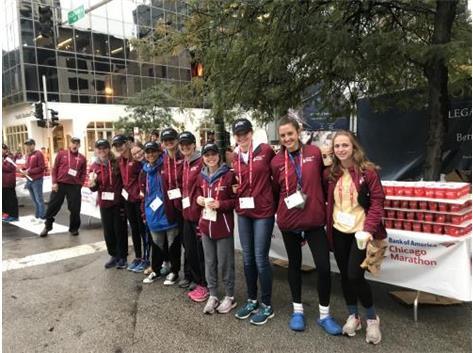 Cross Country volunteering at the Chicago Marathon! 10/7/18