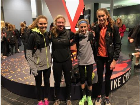 Lianna Surtz at Nike Cross Nationals with the Illinois, Indiana, and Ohio 2018 State Champions!