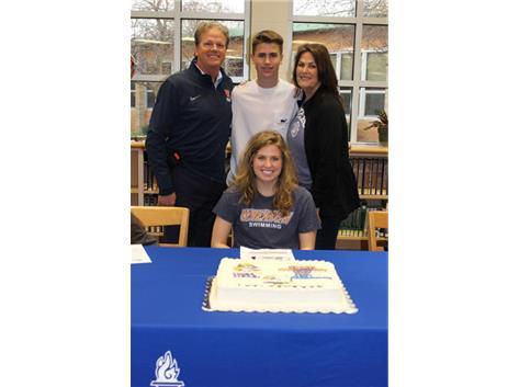 Abby Pardridge will Swim for Wheaton College starting in the 2019-2020 season. Way to go!