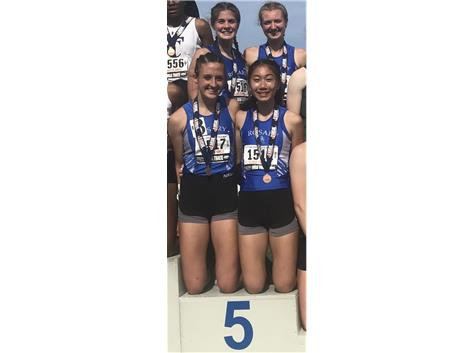 4x400 5th- Melanie Meyer, Julie Bottatini, Maia Italia, Annie Molenhouse 4:03.79 - Great job, Royals!