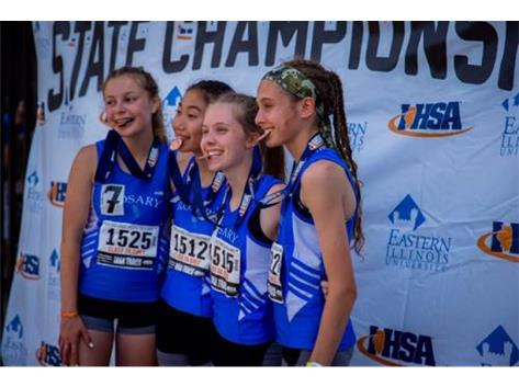 4x800 4th - Katie Ubertino, Lianna Surtz, Katie Lifka, Maia Italia 9:51.22 - Great job, Royals!