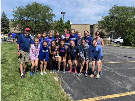 Lianna Surtz was 1st with a time of 17:22.31, & The team placed 2nd with 63pts!  1st Surtz, 8th Maia Italia, 13th Brooke O'Carroll, 20th Katie Ubertino, 21st Katie Lifka,23rd Annie Molenhouse, & 28th Grace Ixpata. Way to go ladies!