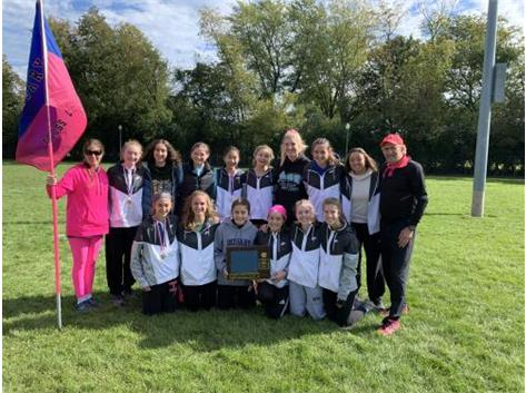 Congratulations to the Rosary Royals Cross Country team, Metro Suburban Conference Champions (Blue Division) today at Elmwood Park. Lianna Surtz is the conference champion, with Maia Italia, Brooke O'Carroll, Katie Ubertino, and Katie Lifka in the top 25, followed by Annie Molenhouse and Grace Ixpata. Great job, Royals!