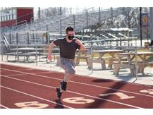Aiden, one of our top 3 boys 40 meter dash runners on March 2nd