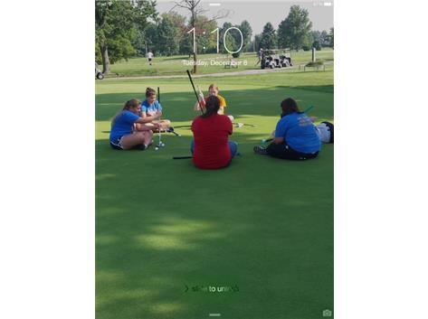 Having fun at practice at Belk Park