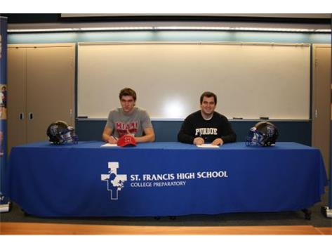 College Signing Day Congratulations to Pasquale Calcagno, Miami of Ohio and John Vargyas, Perdue (Pict taken by Matt Hart)