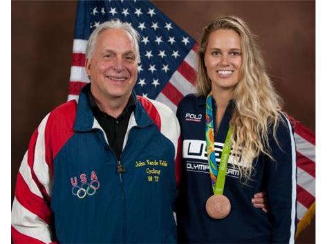 2016 USA Olympian Bronze Medalist Kelsey Robinson(Alumni) & 1968 & 1972 USA Olympian John VandeVelde(Alumni)!