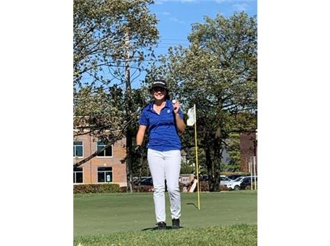Congratulations to Katherine Lemke, who hit a hole-in-one at the IHSA Girls Golf Sectional held yesterday at Arlington Lakes GC.  She hit it on the 155 yard Hole # 5 with an 8-iron!