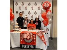 Hannah Oliveros signs for gymnastics at Ohio State University!