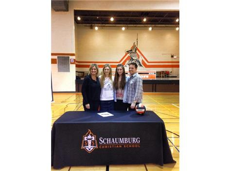 Paetyn Cummings signed her Letter of Intent to play DII Volleyball for Colorado Christian University!