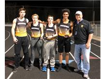 Shawnee 4x400 Relay team wins Graham Invite and sets Meet record!