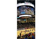 Wintrust Arena for DePaul vs UCONN Vikings on Jumbotron