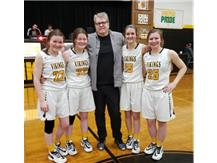 Pat Griffin with Seniors Grace, Kyra, Meagan & Morgan
