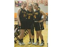 IHSA 3PT SECTIONAL FINALISTS Rylie Galvin, Emma Lotus & Vanessa Casimiro