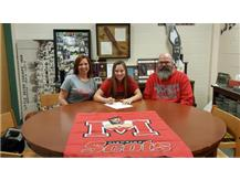 Hannah Flaherty signs with Monmouth College to play soccer.