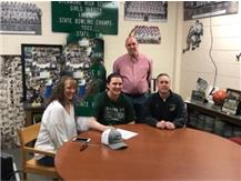 Joey Beaudoin signs with College of DuPage to play football.