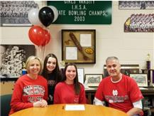 Hannah Kirby signs with North Central College to run cross country track.