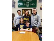 Trevor Boryla signs with Augustana College to wrestle.