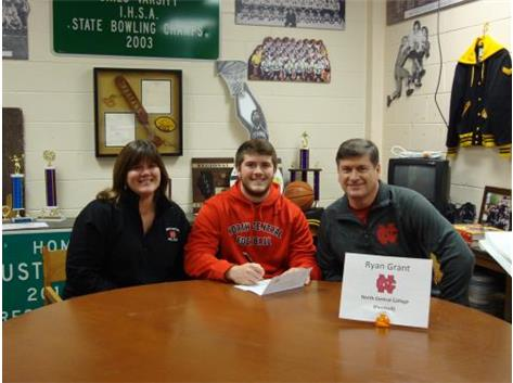 Ryan Grant Signs with North Central College to play football.