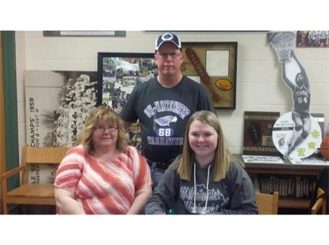 Signing with University of Wisconsin, Whitewater for bowling.