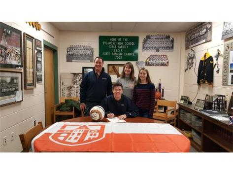 Joe O'Brien signs with Carroll University in Wisconsin to play soccer.