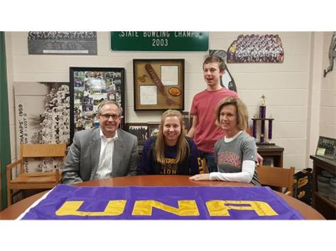 Emma Stice signs with University of North Alabama to play soccer.