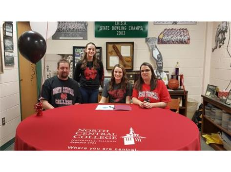 Alexis Kolberg signs with North Central College to bowl.