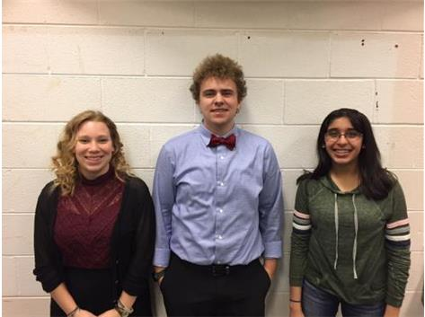 ACDA Honors Choir 2018 – Congratulations to Sycamore High School students: Rachael Johnson, Alexander Smith, Vani Subramony