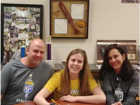 Jacki Rapp signs with North park University in Chicago to play Basketball.