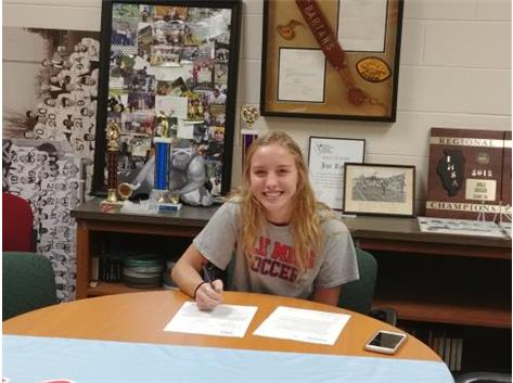 Sadie Holland signs with Ole Miss to play soccer.
