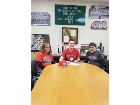 Matt Cusumano signs with North Central College to play baseball.
