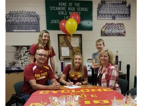 Kylie Feuerbach signs with Iowa State to play Basketball.