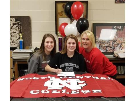 Emma Goldman signs with North Central College to play Soccer.