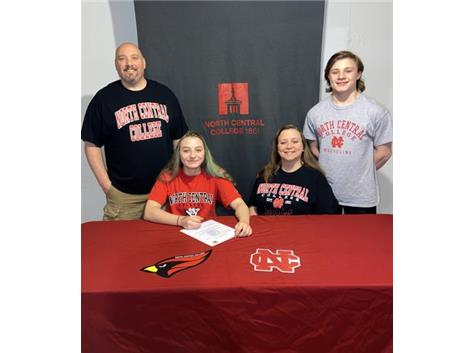 Madison Peet signs with North Central College to Wrestle.