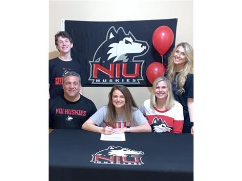 Kierah Meier signs with Northern Illinois University to play soccer.
