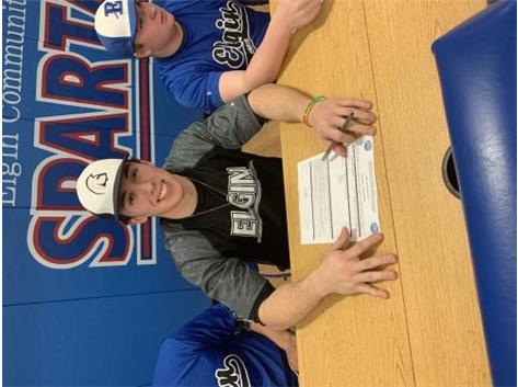 Gavin Crofoot signs with Elgin Community College to play baseball.