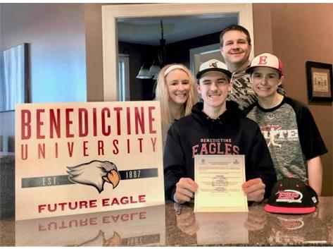 Kyle Severson signs with Benedictine University to play baseball.
