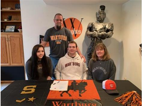 Colton Berg signs with Wartburg College to Wrestle.