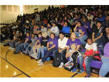 Student & Teachers Together For The Homecoming Pep Assembly