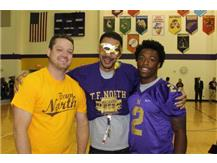 Mr. Altenburg, Mr. Williams, & Senior Anthony Watkins