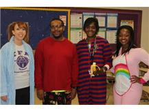 The Teachers Get Comfy For Pajama Day (Spirit Week 2015)