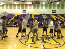 TFN Students & Calumet City Police Department Shake Hands As The Close Game Ends- January 23, 2016