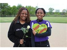Senior, #2, Nia Livingston With Mom- Senior Night 5/20/16
