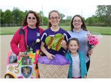 Senior, #5, Teresa Alvarez, With Family, Senior Night 5/20/16