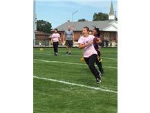 Junior, J. Quezada Runs The Ball